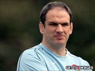 England manager Martin Johnson pictured during a national training session in the Six Nations