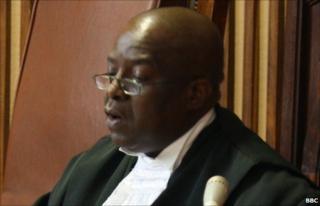 Petrus Damaseb in court