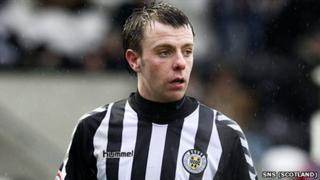 St Mirren striker Paul McGowan