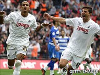 Swansea won the Championship play-off final in May