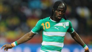 Ivory Coast's Gervinho in action during the 2010 World Cup