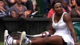 2010 Wimbledon champion Serena Williams.