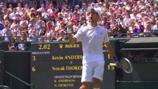 Second seed Novak Djokovic