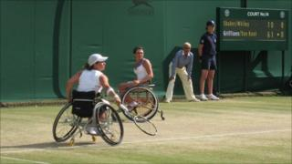 Britain's Lucy Shuker (left) and Jordanne Whiley
