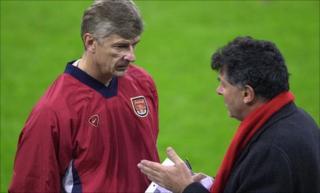 Arsene Wenger (left) and David Dein