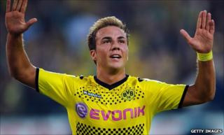 Borussia Dortmund and Germany's Mario Goetze