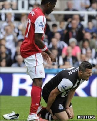 Alex Song and Joey Barton