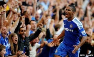 Chelsea goalscorer Florent Malouda