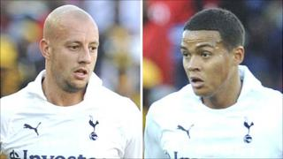 Alan Hutton (left) and Jermaine Jenas (right)
