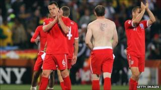 England crash out of World Cup 2010