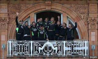 Surrey celebrate winning the CB40