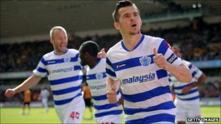 QPR's Joey Barton against Wolves