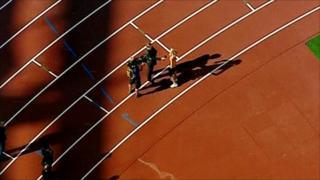 Birds-eye view of Olympic stadium