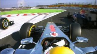 Hamilton's qualifying incident