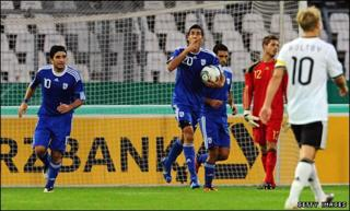 Cyprus score against Germany
