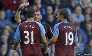 Chris Herd is sent off