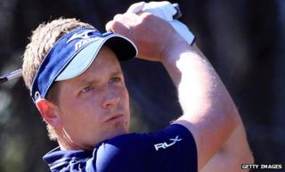 Luke Donald on his way to victory in the Disney Classic