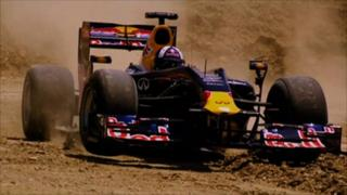 David Coulthard goes off-road