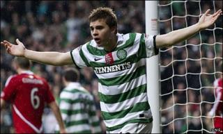 Celtic winger James Forrest