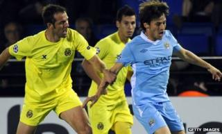 Spain's David Silva (right) impressed again for Manchester City
