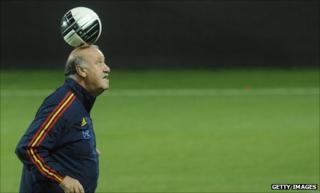 Spain coach Vicente Del Bosque