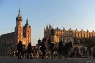 Krakow city centre