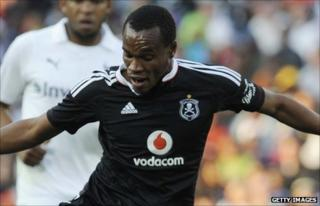 Namibia striker Bester Rudolf