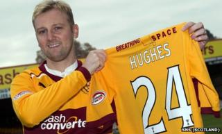 Motherwell midfielder Stephen Hughes