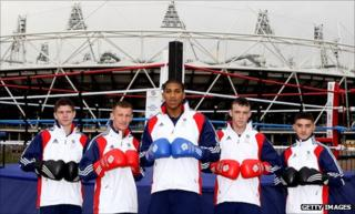 Luke Campbell, Tom Stalker, Anthony Joshua, Fred Evans and Andrew Selby