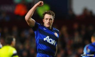 Phil Jones scored his first career goal in his 63rd senior appearance
