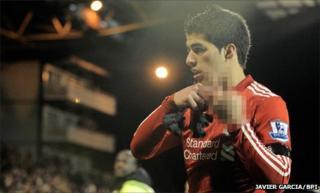 Liverpool striker Luis Suarez at Fulham on Monday
