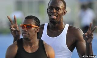 Usain Bolt and Yohan Blake