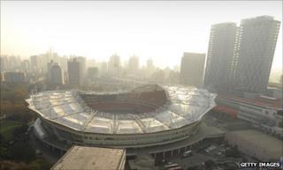 The Hongkou Stadium where Shanghai Shenhua play their home games