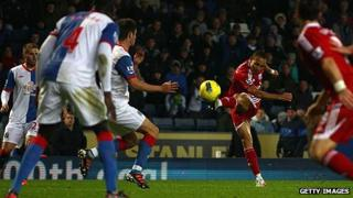 Peter Odemwingie scores West Brom's winner