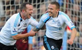 Charlie Adam and Craig Bellamy