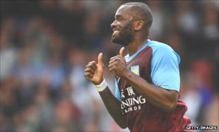 Aston Villa's Darren Bent missed Sunday's game with Liverpool with a thigh injury