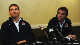 England coaches John Wells and Mike Ford
