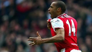 Arsenal's all-time leading scorer Thierry Henry