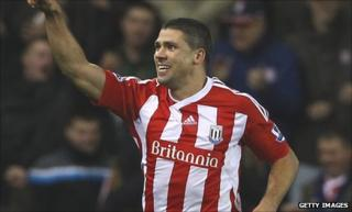 Stoke City striker Jonathan Walters