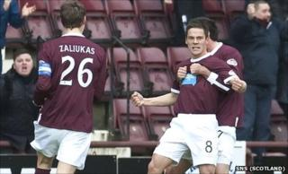 Hearts midfielder Ian Black