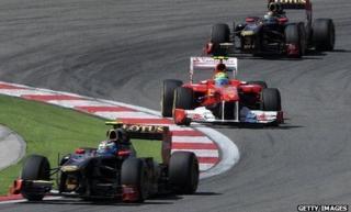 Lotus and Ferrari