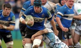 Bek Skirving on the charge for Bath