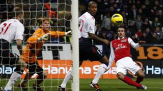 Robin van Persie was unlucky not to add to his 25 goals this season