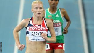 Barbara Parker competes at the 2011 World Championships in Daegu, South Korea.