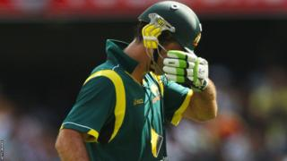 Ricky Ponting walks off after being dismissed against India