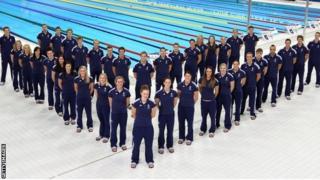 Team GB's swimming squad
