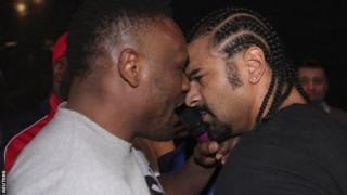 British boxers Dereck Chisora and David Haye