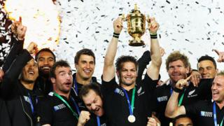 New Zealand lift the 2011 World Cup