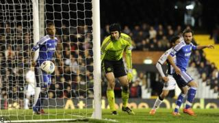 Clint Dempsey equalises for Fulham against Chelsea