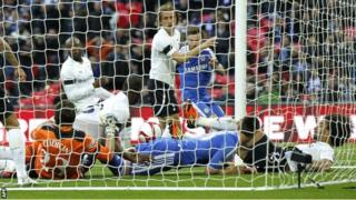 Juan Mata's shot was adjudged to have crossed the line